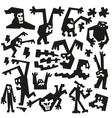 evil monsters - doodles vector image vector image