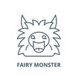 fairy monster line icon linear concept vector image