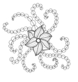 Fantasy flowers coloring page vector image vector image