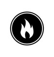 fire round glyph icon flame symbol user interface vector image