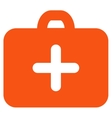 First Aid Case Flat Icon vector image vector image