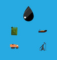flat icon petrol set of boat van droplet and vector image vector image