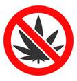 forbidden cannabis icon vector image