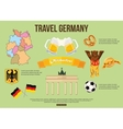 Germany travel background with place for text Set vector image