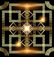 glowing gold 3d greek seamless pattern vector image vector image