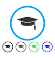 graduation cap rounded icon vector image vector image