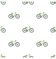 green bicycle icon in cartoon style isolated on vector image