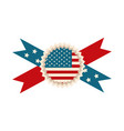 happy independence day american flag rosette vector image vector image