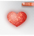 heart red glitter isolated on transparent vector image