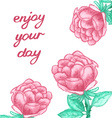 Inspirational card with watercolor roses vector image vector image