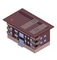 isometric building city 3d icon design house vector image vector image