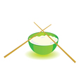 japanese rice bowl with sticks part two vector image