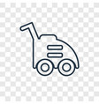 lawn mower concept linear icon isolated on vector image