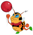 little bumblebee with a balloon eps 10 vector image vector image