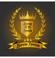 Logo with crown vector image