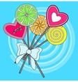 lollipop greeting card vector image vector image