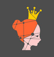 low poly icon of princess vector image