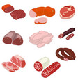 meat product isolated on white background vector image vector image
