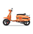 orange retro scooter flat style side view vector image