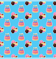 pattern birthday cake with candles for celebration vector image