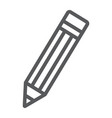 pencil line icon tools and design pen sign vector image vector image