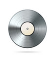 platinum album vinyl disc template on white vector image