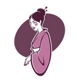 portrait of beautiful geisha for your logo vector image