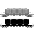 Railway carriage for bulk cargo-3 vector image vector image