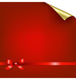 Red Bokeh Background With Bow vector image
