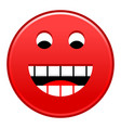 red smiling face cheerful smiley happy emoticon vector image