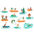 sea outdoor activities water and beach sports vector image