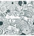 sea shells and sea urchin shells vector image