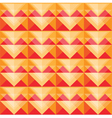 Seamless warm triangle pattern design vector image