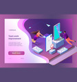 sending messages isometric vector image