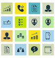 set of 16 human resources icons includes wallet vector image vector image