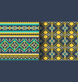 set of seamless ethnic patterns geometric design vector image vector image