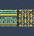 set seamless ethnic patterns geometric design vector image vector image