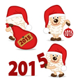 sheep symbol of 2015 year vector image