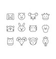 simple set of thin line icons chinese zodiac vector image