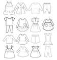 skethch baby and children clothes vector image vector image