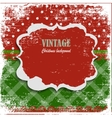 Snowy Christmas vintage background vector image vector image