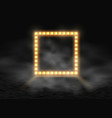 square frame with glowing shiny light bulbs and vector image vector image