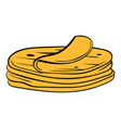 stack of tortillas icon cartoon vector image vector image