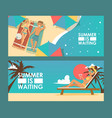 summer vacation advertisement banner vector image vector image