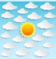 sun sky clouds vector image vector image