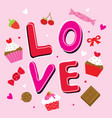 valentine love sweetheart cute cartoon vector image vector image