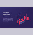 web banner with neon light and modern 3d isometric vector image vector image