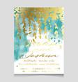 wedding in watercolor style vector image vector image