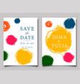 wedding invitation or anniversary card templates vector image