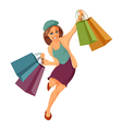 Woman is shopping vector image